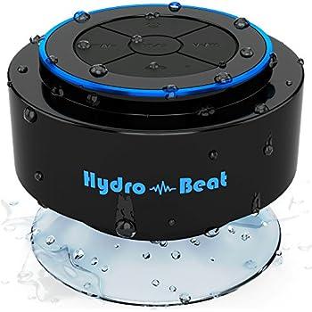 Altoparlante Portatile - Hydro-Beat SIRI. Altoparlante Bluetooth Portatile IP67 Impermeabile IP67 con Microfono incorporato e funzione SIRI. Ricaricabile usando jack 3.5mm/USB (Nero e Blu)