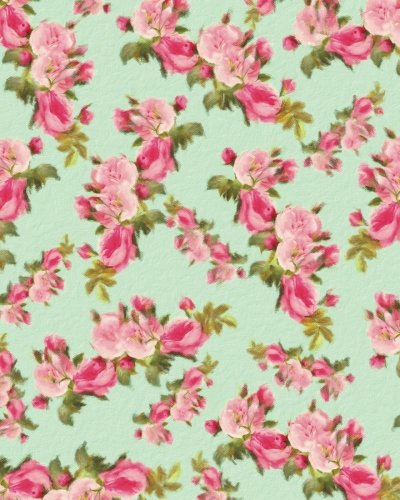 Vintage Rose Pattern Painted