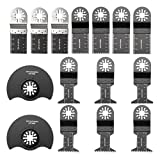 BABAN 15 pcs Oscillating Saw Blades Multitool Blades with Universal Hole Fits Ridgid Ryobi Makita Skil and Other General Multi-Tool