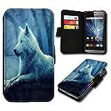 Book Style ZTE Blade L5 Premium PU-Leder Tasche Flip Brieftasche Handy Hülle mit Kartenfächer für ZTE Blade L5 - Design Flip SB653