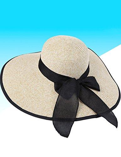 Chapeau de chapeau d'été féminin Chapeau de plage de vacances de plage de femme Chapeau de chapeau de Big Eaves (plus de couleurs à choisir) ( Couleur : 23 ) 13