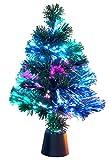 GYD Geschmückter Baum Weihnachtsbaum Weihnachts Deko Künstlicher Weihnachtsbaum Weihnachtsbaum Weihnachtsbaum mit Farbwechsler LED-Glasfaser(grün 35cm)