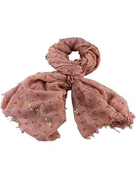 ARMANI JEANS Damen Schal im Geschenkbox 924139 mit Glitzergarn (pink)