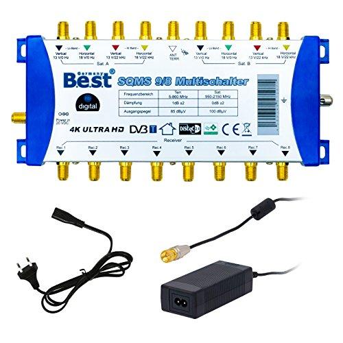 Multi Interruttore pmse 9/8 HB-DIGITAL 2 x SAT fino a 8 x Utenze/ricevitore per Full HDTV 3D 4 K UHD