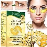 Augenpads,Eye Mask, Eye mask collagen, Anti aging Augenpads mit Hyaluron Augenpflege, Antifn Augenpads Feuchtigkeit spendende, entfernen Taschen, dunkle Kreise & Puffiness-30Pairs