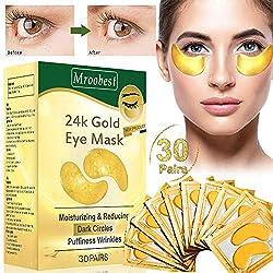 Eye Pads, Eye Mask, Eye Mask Collagen, Anti Aging Eye Pads with Hyaluronic Eye Care, Antifn Eye Pads, Moisturizing, Remove Pockets, Dark Circles & Puffiness 30Pairs