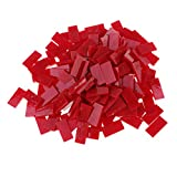 Sharplace 150 Stück Crystal Mosaiksteine Glasmosaik Dekoration Steine für Handwerk Keramik 200g 10*20mm - rot