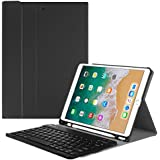 Fintie IPad Pro 10.5 Keyboard Case With Built-in Apple Pencil Holder - SlimShell Protective Cover With Magnetically Detachable Wireless Bluetooth Keyboard For Apple IPad Pro 10.5 Inch 2017, Black