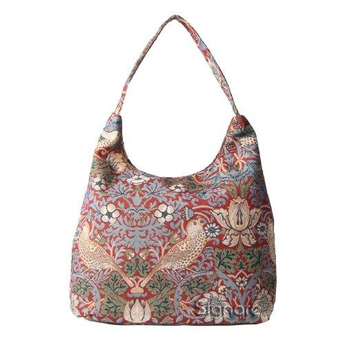 Signare besace sac d'épaule tapisserie mode femme Fraise voleur rouge