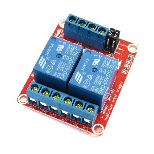 Sourcingmap - Dc 5v 2ch conducente accoppiatore ottico ad alto modulo a basso livello di attivazione relè di potenza
