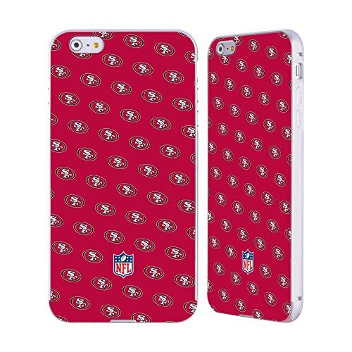 Ufficiale NFL Righe 2017/18 San Francisco 49Ers Argento Cover Contorno con Bumper in Alluminio per Apple iPhone 6 Plus / 6s Plus Pattern