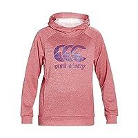 Canterbury Girls' Fleece Over the Head Hoodie, Azalea Marl, 10 Years