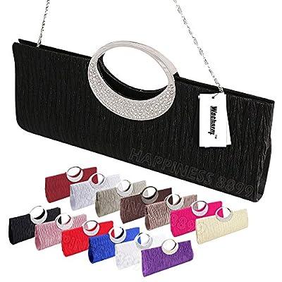 Womens Tote Bag Ladies Crystal Diamante Clutch Purse Bridal Wedding Evening Party Handbag Black White Silver Wallet