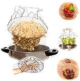 EJY Multifunktions-Kochkorb Pommes-Frites-Topf Fry Siebkorbfilter Küchenhelfer- Durchmesser 24cm, Höhe 14cm