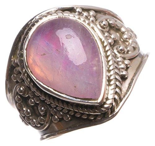 925er Sterling Silber Dyed Moonstone Einzigartig Handgefertigt Ringe 18 Dyed Numerous Colors U1437