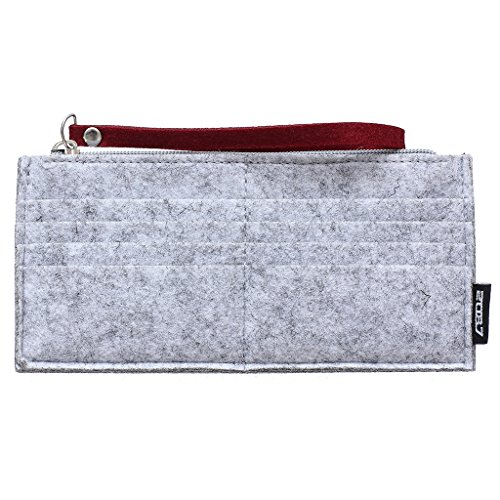 2087 Moda Donne Borsa Portafoglio Signora Frizione Lungo borsetta Borsette da Polso Rosso 04-Rosso