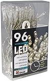 HiT LED Lichterkette Batterie Timer 96 Lämpchen warmweiß für innen und außen