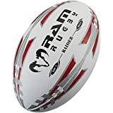 Ram Rugby Raider Rugby Ball - Red - Size 4 - Official Ball Supplier For Major League Rugby
