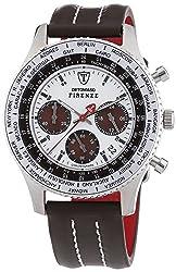 DETOMASO Mens SL1624C-CH1 FIRENZE Chronograph Trend mehrfarbig/Braun Analog Display Japanese Quartz Brown Watch