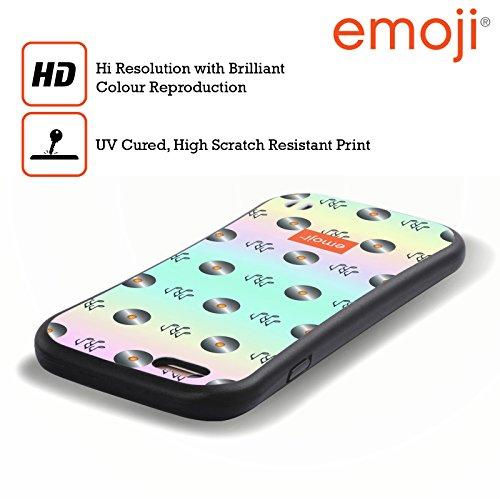 Ufficiale Emoji Disco Modelli Musicali Case Ibrida per Apple iPhone 6 Plus / 6s Plus Disco
