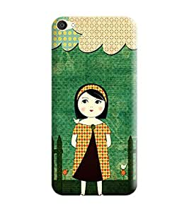 Oppo F3 Plus Back Cover designer 3D Hard Mobile Case printed Cover for oppo f3 plus by Gismo - Sweet Girl Girly Green Theme