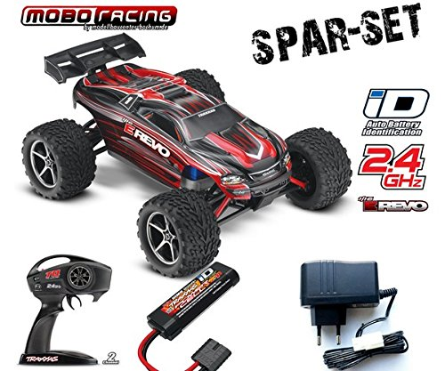 Traxxas 71054-1 E-Revo 1:16 brushed RTR 2,4GHz 4WD RC-Truggy 230V Lader rot