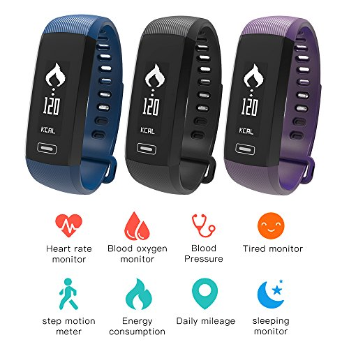 Minicase Smart Band Armband Armbanduhr Bluetooth-Blut Druck Sauerstoff Pulsoximeter Herzfrequenz Monitor Schrittzähler Fitness Tracker Armband für iOS Android iPhone Samsung