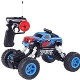 Bescita Ferngesteuerte Autos für Draussen, 1:16 4WD Verfolgt Räder Crawler Kettenrad Off-Road Monster Auto 25 km/h RTR Kletterwagen Spielzeug NEUZ (Blue)