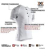 X-Bionic Invent Light Shirt Round Neck Short Sleeve Men, T Uomo, Arctic White/Dolomite Grey, XL