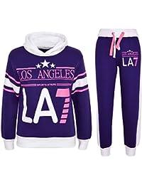 A2Z 4 Kids® Kinder Mädchen Trainingsanzug LOS Angeles LA7 Aufdruck Kapuzenpullover & Hosen Jogginganzug Alter 5 6 7 8 9 10 11 12 13 Jahre