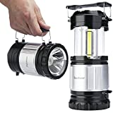 Readaeer 2 x LED Camping Laterne Outdoor zusammenklappbare Campinglampe Zeltlampe für Wandern, Camping, Notfall usw(Doppel)