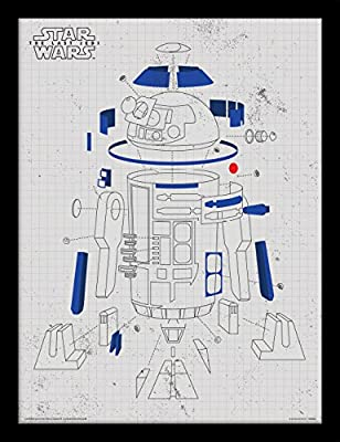 PYRAMID - Cadre Star Wars EP8 R2-D2 Exploded View