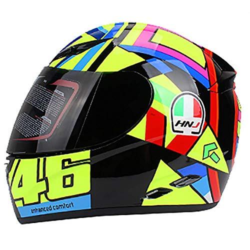 LALEO Bunt Integralhelm Motorradhelm, Unisex Wasserdicht Atmungsaktiv Warm Einstellbare Entlüftung Damen Herren Cruiser Helmet Jet-Helm ECE/DOT Genehmigt (57-62cm),Sungod,L