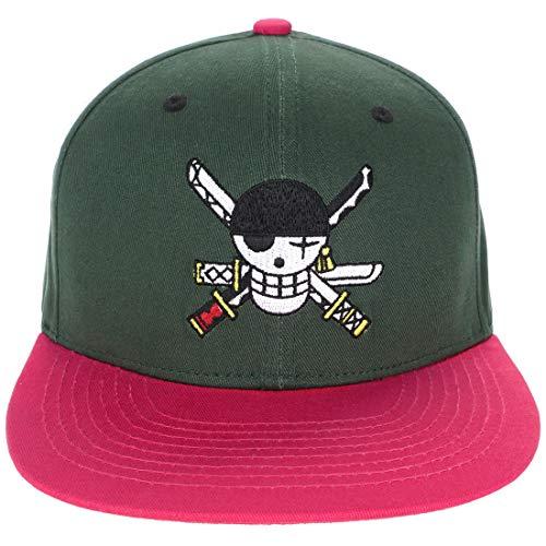 119c9126ba8e4a CoolChange One Piece Basecap mit Jolly Rogers von Lorenor Zorro