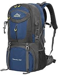 Vbiger 60L Mochila Impermeable Mochila para Deporte al Aire Libre para Escalada Senderismo Trekking Alpinismo con