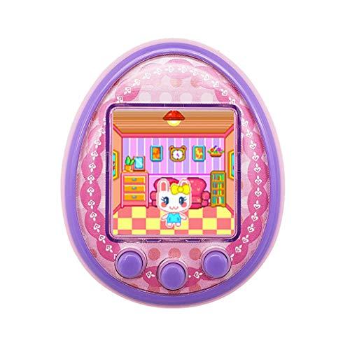veyikdg - videogioco, tema animali domestici, portatile, elettronico, tamagotchi, giocattolo educativo per bambini e bambine, con led lampeggiante, rosa