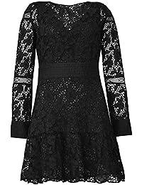 BA&SH Aphrodite Lace Panel Dress in Black S