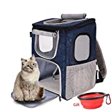 DODOPET-Pet Cat and Dog out Travel Backpack, Pet Car Backpack, Bearing 20 Pounds (Blue)