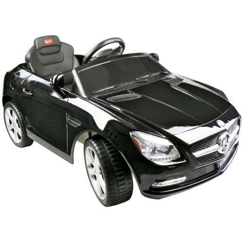 Coche Eléctrico Bateria 6V con Mando Control Remoto para Padres y Conexion MP3 Llaves Encendido Luces de Faros y Claxon Mercedes Benz 81200 Color Negro Automóviles Infantiles para Niños