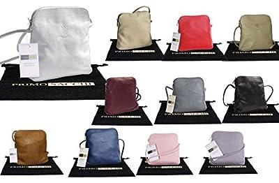 Genuine Italian Soft Leather, Small/Micro Cross Body or Shoulder Bag Handbag. Includes Branded Protective Storage Bag.