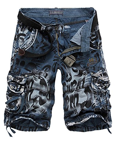 Menschwear Herren Vintage Cargo Shorts Bermuda Kurze Hose Sommer Kurze Hose camouflage 4