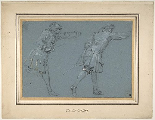 The Poster Corp Adam Frans van der Meulen - Study of Two Soldiers Swordfighting Kunstdruck (45,72 x 60,96 cm) -