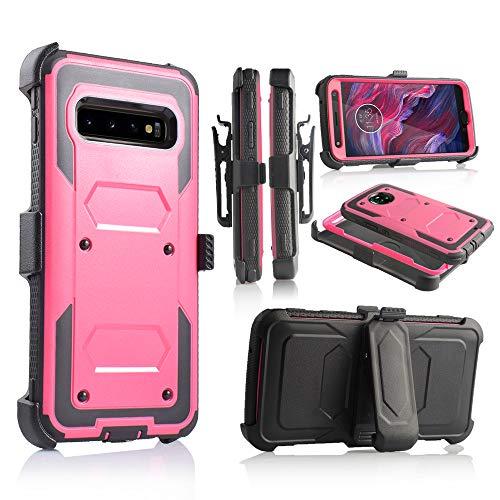 6goodeal Schutzhülle für Galaxy S10 Plus, Militärqualität, mit eingebautem Ständer, 6.3 inch, Rose - Dual-sim-handy Att