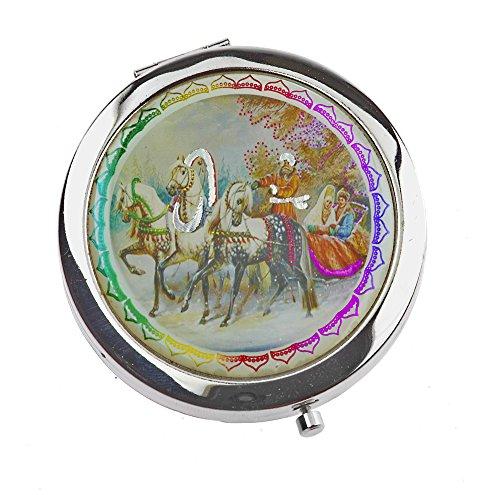by-Bers Taschenspiegel mit Motiven russischer Märchen, 24 Varianten, Väterchen Frost Baba Jaga...