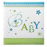 Goldbuch Babyalbum, Lovely, 30 x 31 cm, 60 weiße Blankoseiten mit 4 illustrierten Seiten und Pergamin-Trennblättern, Leinen bedruckt, Blau, 15086