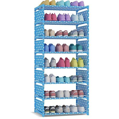 Schlafzimmer Schrank Organisatoren (UDEAR 8 Schicht Schuhschrank Schuhregal für ca. 24 paar Schuhe Storage Shoe Rack Shelf Blau)