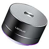 Bluetooth Speaker, Lenrue Portable Wireless Mini Outdoor Rechargeable Speakers with LED, Stereo Sound, Enhanced Bass, Built-in Mic for IPhone/IPad/Andriod/Samsung/Tablet (Grey)
