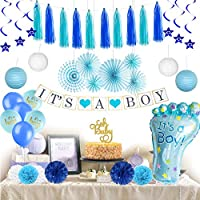 ‏‪Baby Shower Decorations for Boy I Baby Shower Decorations Boy Kit I Baby Shower Decorations for Boy Elephant Style I Baby Elephant Baby Shower Decorations I Baby Boy Decorations for Baby Shower Banner‬‏