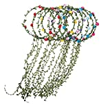 9 Pieces Flower Headband Garland - AWAYTR Bohemia Floral Crown for Women Girl Hair Accessories for Wedding Festival Party Multi Color( Multicolor-Style A)