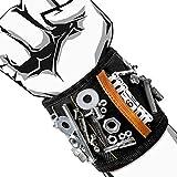 Vakoo Magnetische Armbänder, Magnetarmband mit 15 starken Magneten, Schrauben, Nägel, Dübel, Bohrungen und kleine Werkzeuge und Schrauben Tasche - Werkzeug Geschenk für DIY Handwerker, Vater, Ehemann, Freund, Männer, Frauen